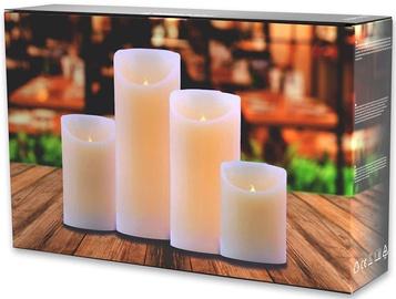 DecoKing Dripwax LED Candle Set 10/12.5/15/20cm