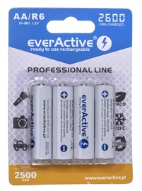 EverActive Professional Line Rechargeable Batteries R6 AA 2600mAh