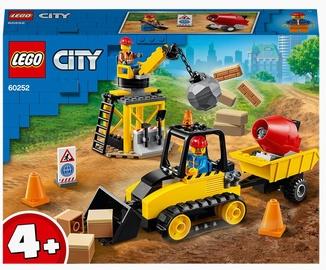 Konstruktors LEGO City Būvlaukuma buldozers 60252, 126 gab.