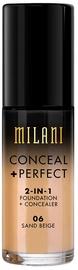 Tonizējošais krēms Milani Conceal + Perfect 2in1 Foundation + Concealer Sand Beige, 30 ml