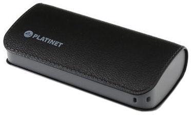 Ārējs akumulators Platinet Luxury Leather Black, 2600 mAh