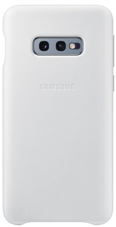 Samsung Leather Cover For Samsung Galaxy S10e White
