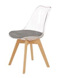 Ēdamistabas krēsls Halmar K342 Grey/Transparent