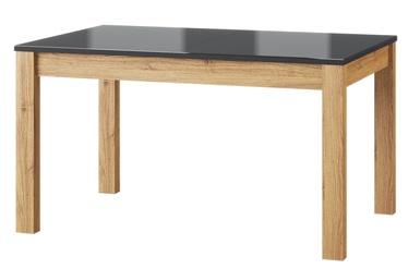 Обеденный стол Szynaka Meble Kama 40 Oak/Black, 1360x900x760 мм