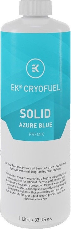 EK Water Blocks EK-CryoFuel Solid Azure Blue (Premix 1000mL)