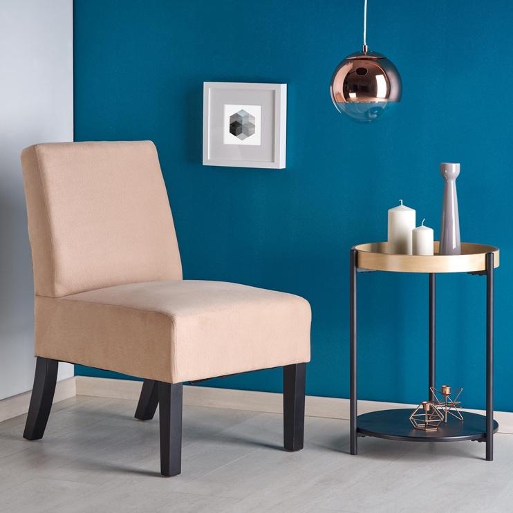 Atzveltnes krēsls Halmar Fido, bēša, 65x52x75 cm
