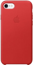 Apple Leather Back Case For Apple iPhone 7 Plus Red