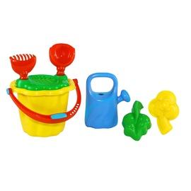 Smilšu kastes rotaļlietu komplekts 4IQ Gardener, daudzkrāsains