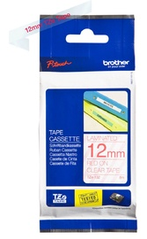 Brother Tapes TZe132 12mm Red On Clear