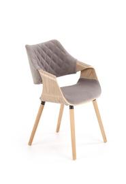Ēdamistabas krēsls Halmar K396 Light Oak/Gray