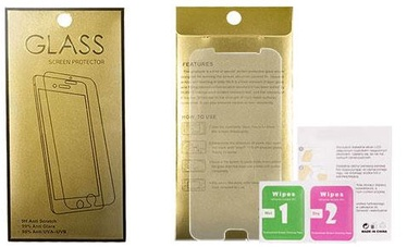 Gold Tempered Glass Screen Protector For Samsung Galaxy J1 J120F