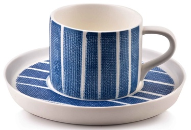 Mondex Navy Cup And Saucer Blue 225ml