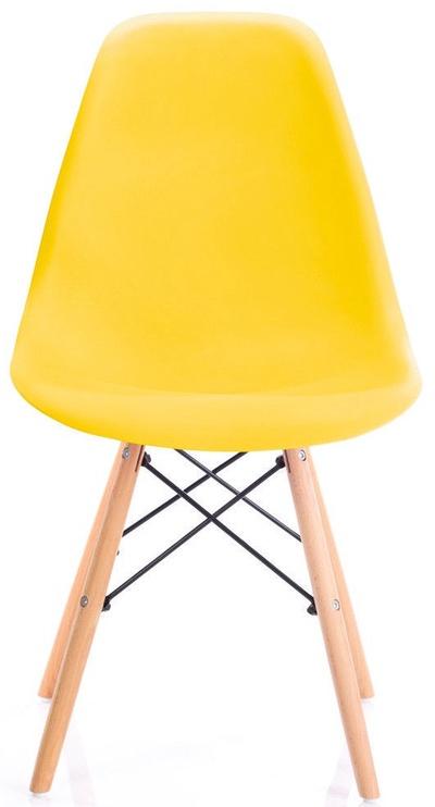 Ēdamistabas krēsls Homede Margot, dzeltena, 4 gab.