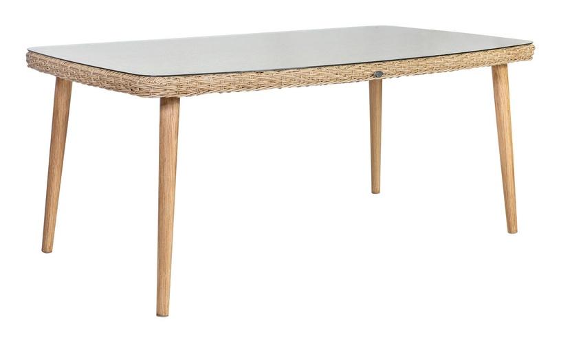 Dārza galds Home4you Retro Natural Rattan, 160 x 90 x 75 cm