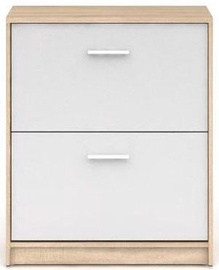 Шкаф для обуви Black Red White Nepo Plus Sonoma Oak/White, 700x275x840 мм