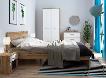 Guļamistabas mēbeļu komplekts Black Red White Matos 5 Oak/White