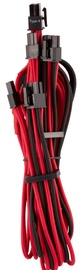 Corsair Premium Individually Sleeved PCIe Cables with Dual Connector Type 4 (Gen 4) Red/Black