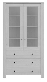 Black Red White Amsterdam Glass Door Cabinet 200x110cm Grey