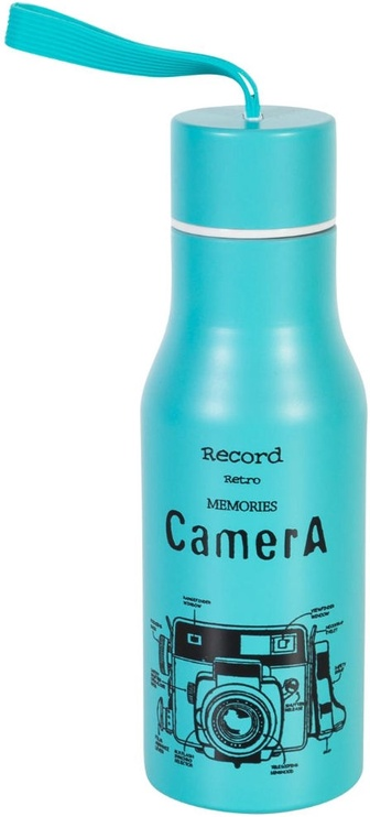 Home4you Drinking Bottle Retro Record 76936 Blue