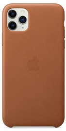 Apple Leather Back Case For Apple iPhone 11 Pro Max Saddle Brown