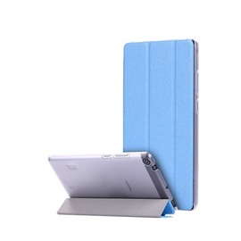 TakeMe Texture Eco-leather Book Case With Stand For Tablet PC Huawei MediaPad T3 7.0 Light Blue
