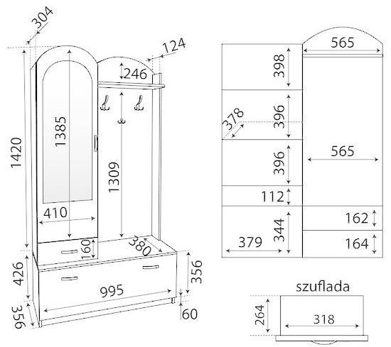 ML Meble Hallway Unit Inez ML Sonoma Oak