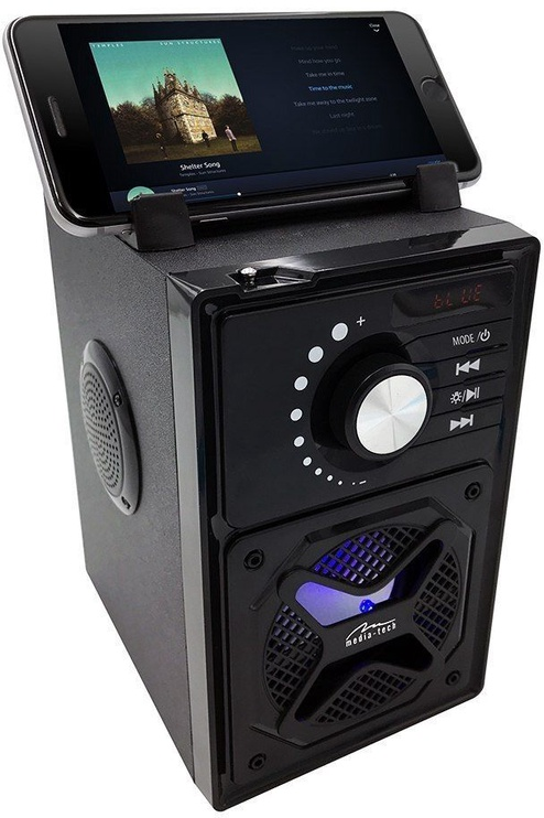 Bezvadu skaļrunis Media-Tech Boombox BT Next MT3166 Black, 15 W