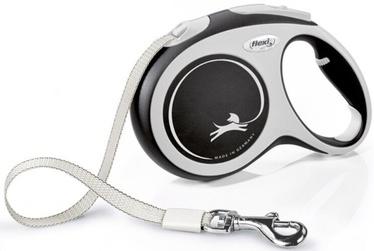 Поводок Flexi New Comfort, белый/черный, 8 м