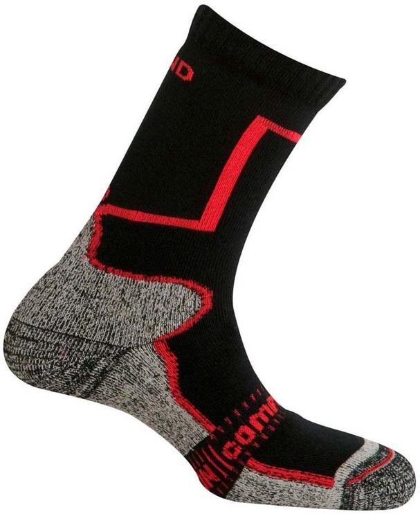 Zeķes Mund Socks Pamir Black/Red, 42-45, 1 gab.
