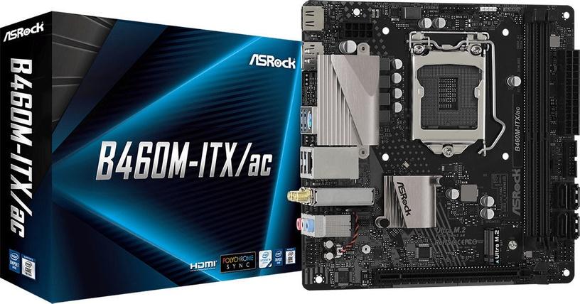Mātesplate ASRock B460M-ITX/ac