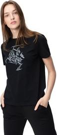Audimas Womens Short Sleeve Tee Black Gray Printed L