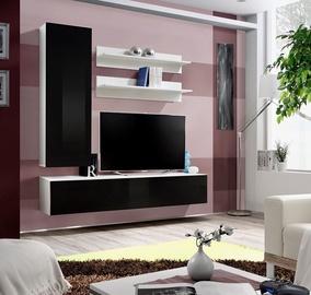 ASM Fly H Living Room Wall Unit Set White/Black Gloss