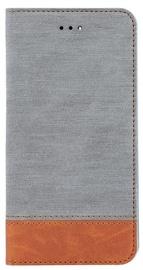 Blun Soft Touch Book Case For Huawei P9 Lite Mini Grey