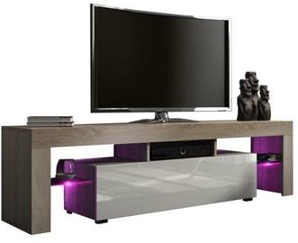 ТВ стол Pro Meble Milano 160 With Light Sonoma Oak/Grey, 1600x350x450 мм