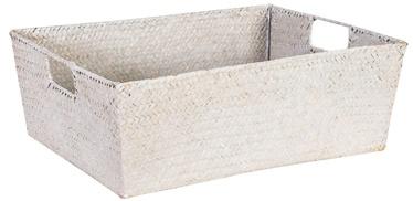 Home4you Basket 2 Petra 37x28x14cm White