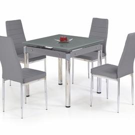 Обеденный стол Halmar Kent Grey/Chrome, 800 - 1300x800x760 мм