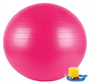 Гимнастический мяч с насосом, 75 cm, розовый