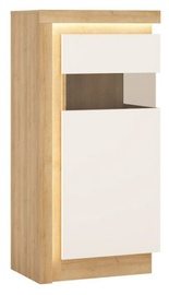 Meble Wojcik Lyon LYOV02 Display Case White/Riviera Light Oak Right