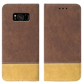 Mocco Suede Book Case For Samsung Galaxy A7 A750 Brown
