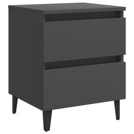 Ночной столик VLX Bed Cabinet 805873, серый, 40x35x50 см