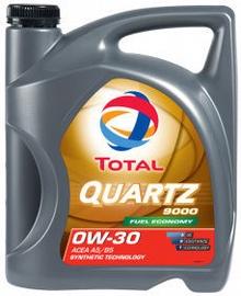Машинное масло Total Quartz 9000 0W - 30, синтетический, для легкового автомобиля, 5 л