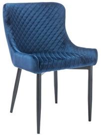 Ēdamistabas krēsls Signal Meble Colin B Velvet Blue/Black, 1 gab.