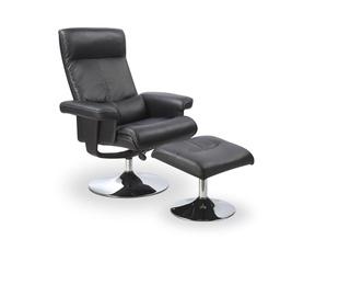 Atzveltnes krēsls Halmar Dayton Black, 93x85x101 cm