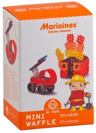 Marioinex Mini Waffle Fireman Medium Set 68pcs 902523