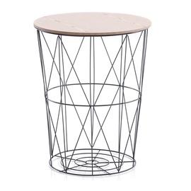 Kafijas galdiņš Homede Carmina, brūna, 400x400x500 mm