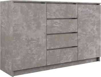 Комод Top E Shop 2 Doors 4 Drawers Concrete 140cm