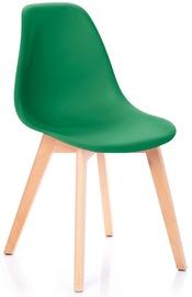 Ēdamistabas krēsls Homede, brūna/zaļa