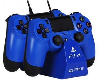 4Gamers Dual Controller Play And Charge Desktop Stand Blue