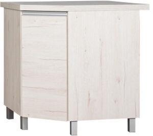 Шкафчик Bodzio Monia Kitchen Corner Cabinet Lower With Swivel Basket Pearl Soma Oak
