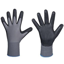DD Nylon-Polyester Gloves With Dotted Nitrile Palm 9